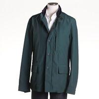 $1675 Luciano Barbera Lightweight Tech Wool Field Jacket Xl (eu 54) Forest
