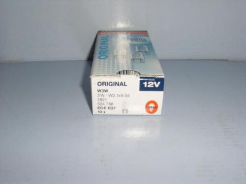 5 Stück Glühlampe OSRAM 12V 21W Glassockel W3x16d