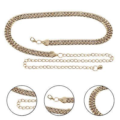 Oro Diamante Cintura Mujer Cadena Cinturón Cristal Estrás Moda Dije Cinturilla | eBay