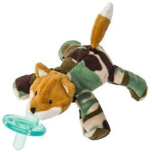 Little Camo Fox WubbaNub Infant Binkie Pacifier Soothie Stuffed Animal Toy