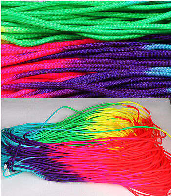 100ft RainBow Color 550 Paracord Rope 7 strand Parachute Cord CAMPING HiKING