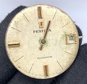Festina-Cal-2522-Automatique-Vintage-25-9-mm-Pas-Fonctionne-pour-Pieces