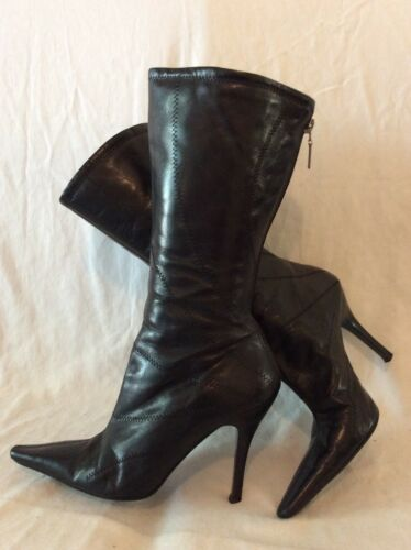 Leather Size Mid Boots Black 6 Calf Island River FxqwfITI