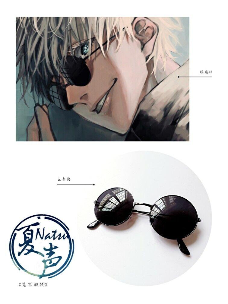 Jujutsu Kaisen Gojo Satoru Cosplay Sunglasses black frame glasses Headwear