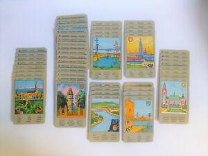 Antik-48teiliges-Quartett-034-Europa-034-von-Klee-sehr-altes-Kleeblatt-Kartenspiel