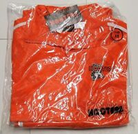 Authentic Hooters Orange/white Jumpsuit Track Warm Up Suit - X-small / Xs