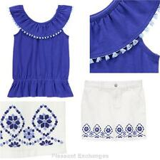 NWT Gymboree Sparkle Safari Girls SZ 4 5 6 7 Sapphire Tassel Ponte Dress
