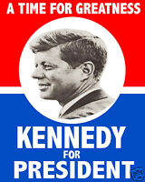 John F. Kennedy Jfk 1960 Presidential Campaign Election 8 X 10 Photo Poster
