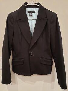 Arden-B-Womens-Jacket-Blazer-Black-Cotton-Stretchy-Size-6