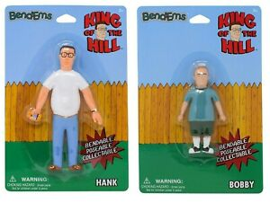Sunny-Days-Entertainment-King-of-The-Hill-BendEms-Hank-amp-Bobby-Action-Figures