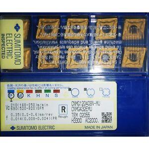 10pcs SUMITOMO CNMG120408N-MU AC2000 CNMG432EMU Carbide Inserts Free Shipping