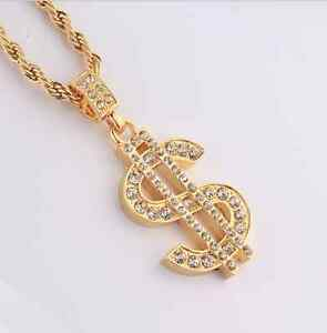 18k-Gold-Plated-Rhinestone-dollar-sign-Pendant-Chain-Hip-Hop-Necklace-N144