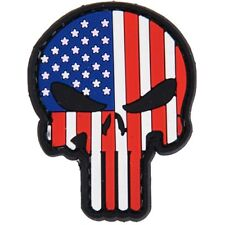 PUNISHER SKULL USA FLAG STARS & STRIPES PVC PATCH Combat Army Morale Military