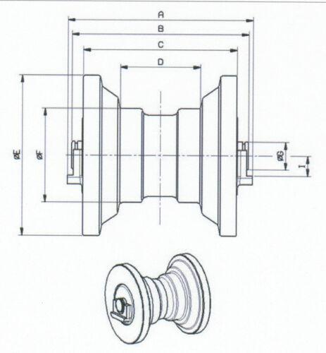 -2 Kobelco SK35 LAUFROLLE für Minibagger Yanmar 772148-37300  B37