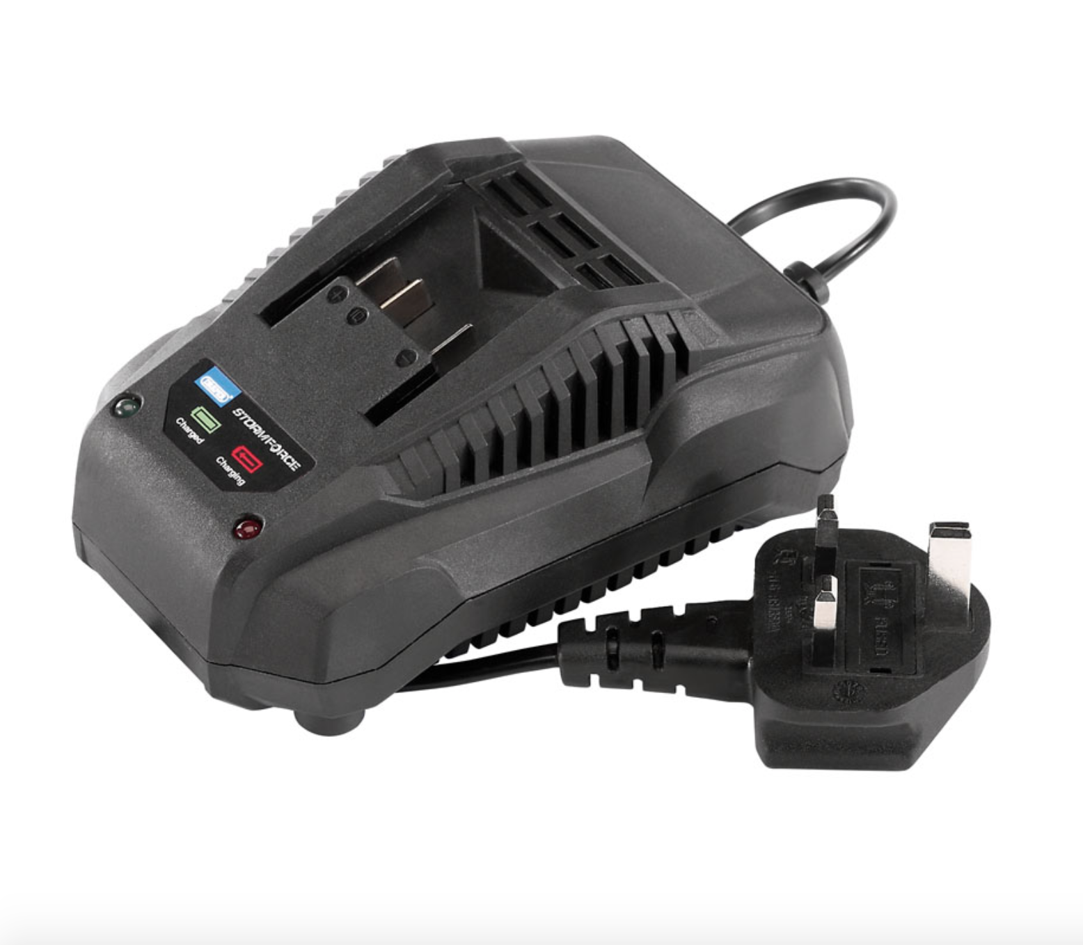Draper Storm Force 20V Volt SDS Rotary Rotary Rotary - Rotary Hammer Drill 4.0AH Fast Charger 0e6733
