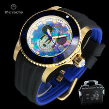 Invicta Men's 47mm Disney LE Mosaic Mickey Mouse Dial Strap Watch & Dive Case