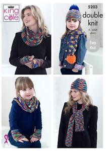 King Cole DK Knitting Pattern 4400 Sweater /& Top