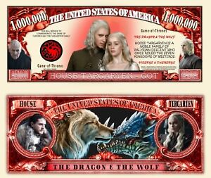Details About Game Of Thrones Billet Million Dollar Us Daeneris Targaryen John Snow Got Dragon