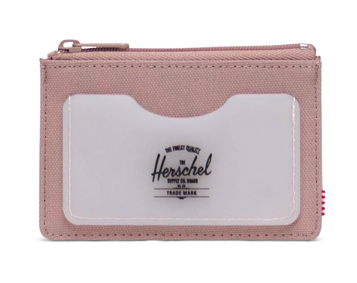 Herschel Oscar Rubber RFID Wallet Ash Rose / Clear