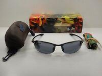 Maui Jim Makaha Reader Polarized G805-0220 Sunglasses Black Frame/grey Lens 2.0x