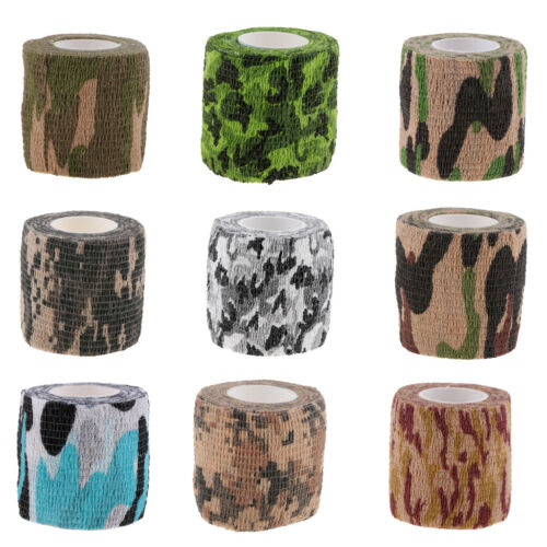5cm 4.5m Stretch Self Adhesive Camo Tape Cling Wrap Bandage Outdoor Hunting