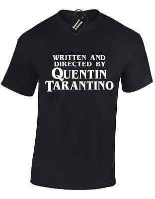 63a4620dfea739 WRITTEN AND DIRECTED BY QUENTIN TARANTINO MENS T SHIRT MOVIE FUNNY FASHION  NEW