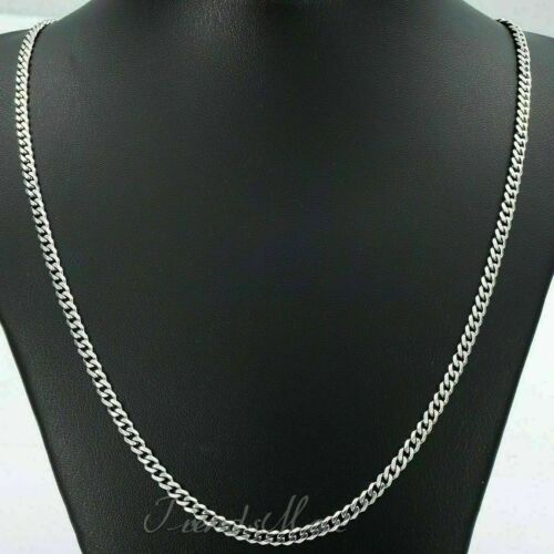 1 Pcs Stainless Steel Silver Tone Chain Cuban Curb Mens Necklace 3.5//4.5//5//7.5mm