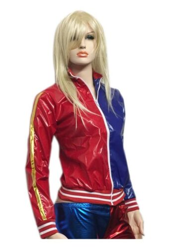 Ladies Harley Quinn Suicide Squad Metallic Jacket And Hot Pants Shorts Halloween