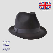 2544a7f4c4599 Osborne Mens Brown Belted Wool Fedora Hat From Debenhams M for sale ...
