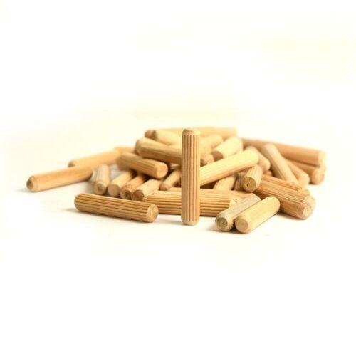 100 PACK 14205-100K Birch Wood Dowel Pins Size: 5//16 Inch x 1-1//2 Inch