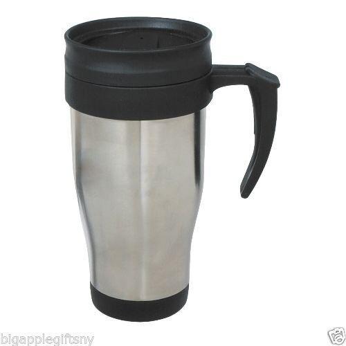 stainless steel mug double wall travel coffee cup 14 oz ebay