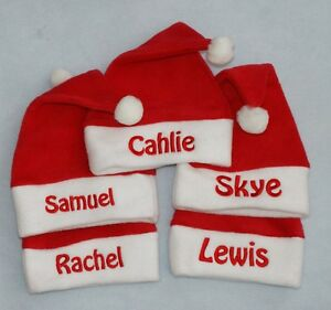 33729cfbd9b Image is loading Personalised-Baby-Toddler-Fleece-Santa-Hat-ADD-ANY-