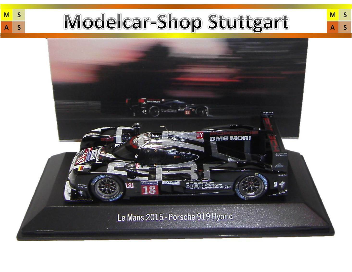 Porsche 919 Hybrid Le Mans 2015 Dark Finish Version Spark 1 43 map02087515