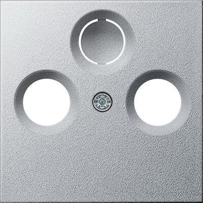 Gira System 55 aluminium, ABDECKUNG SAT 086926, TV-2/3 Loch