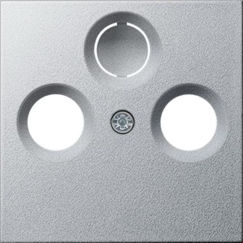 Gira System 55 aluminium TV-2//3 Loch ABDECKUNG SAT 086926