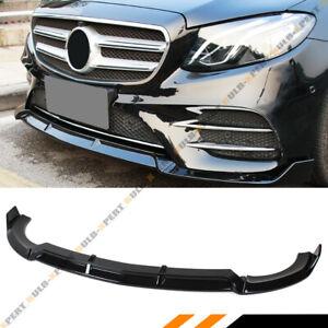 FOR 17-19 MERCEDES BENZ W213 E-CLASS GLOSS BLACK 3PC VIP STYLE FRONT BUMPER LIP