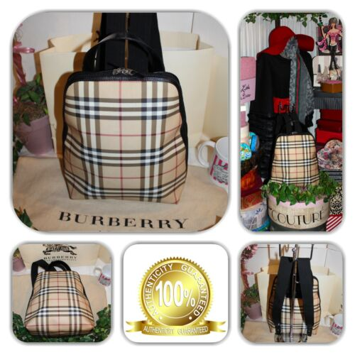 CHIC-BURBERRY SIGNATURE BACKPACK!