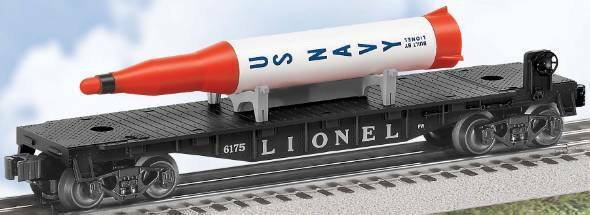 Lionel  39457 PWC 6175  FLATauto WITH ROCKET RErendere