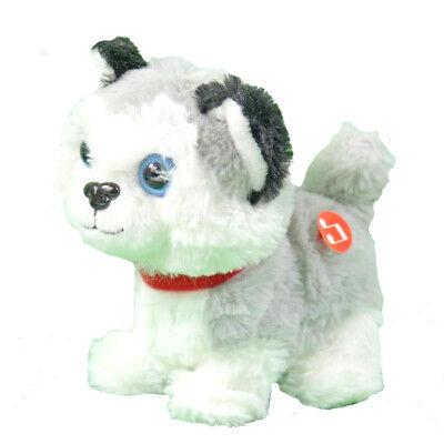 Laufender Plüsch Hund mit Sound braun Lucky   Spielzeug