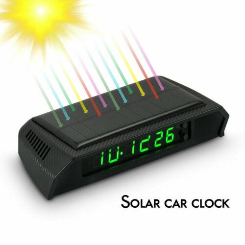 Solar Clock Portable Digital LED Clock /& Calendar for Vehicle Auto car Truck C6