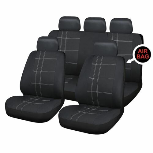 UKB4C Black Full Set Front /& Rear Car Seat Covers for Seat Ibiza All Models