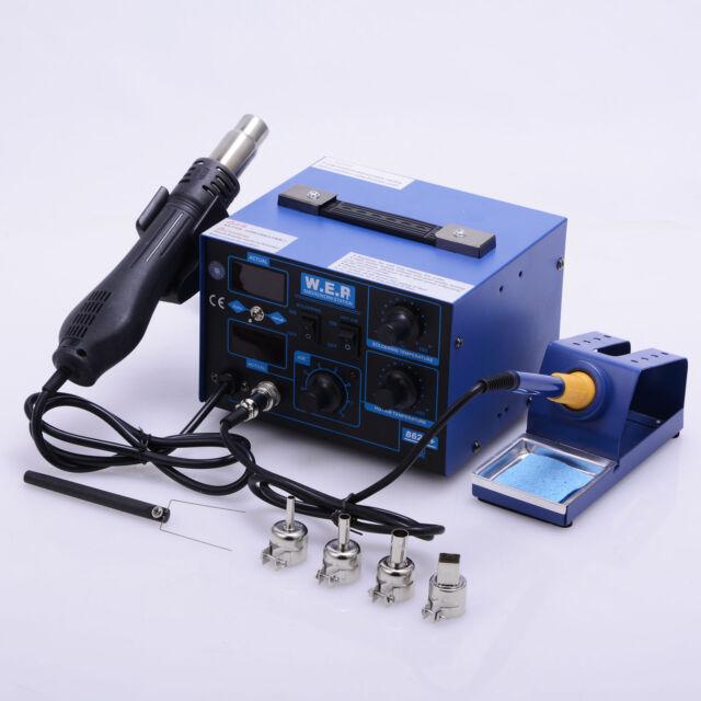 Soldering Iron Desoldering Unsoldering Station Hot Air Rework Gun Display
