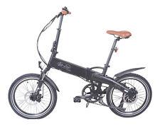E-Bike in schwarz matt Klapprad Alu Shimano Samsung Akku Faltrad 250 W Pedelek