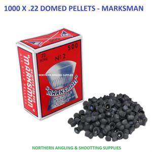 1000 x .22 DOMED AIR GUN RIFLE PELLETS SHOOTING HUNTING 2 BOXES MARKSMAN