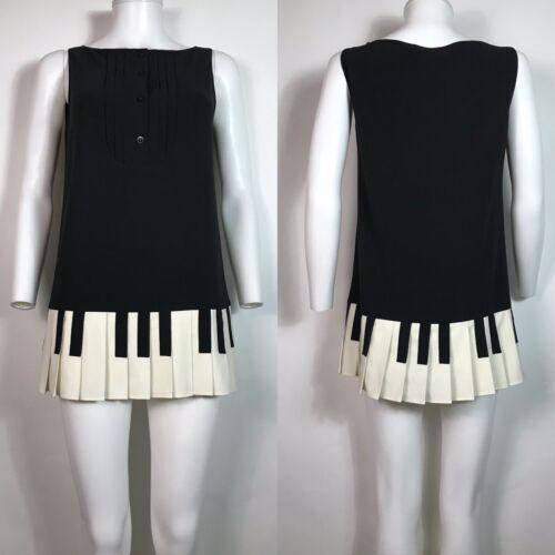 Rare Vtg Moschino Cheap & Chic Black Piano Key Min