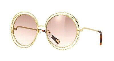 433c0078 Chloé CARLINA CHAIN CE114SC Gold/Light Grey Brown Shaded (722 A) Sunglasses  | eBay