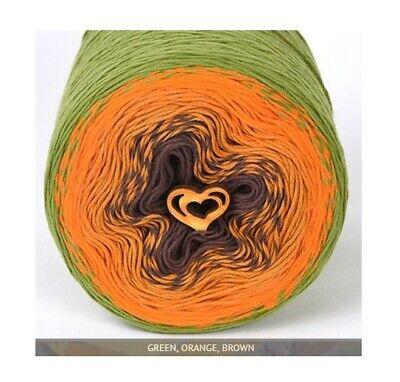 Cotton Candy Blue Green Gradient Stenli DK Yarn 280g 900m Cake wool crochet 802