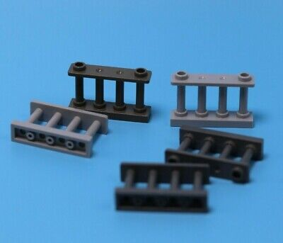 LEGO Lot of 2 Dark Gray 1x4x2 Spindle Fence Pieces