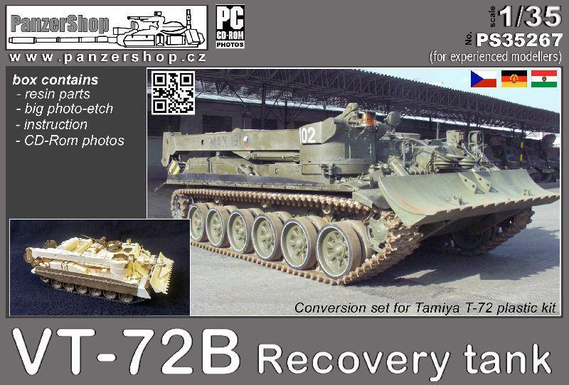 VT-72B Recovery Tank CCCP resin conversion 1 35 PanzerShop Tamiya PS35267