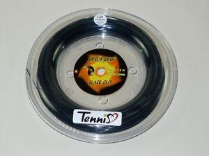 Pro's Pro Black Out Tennis Corde 5-rectangulaire 200 M (0,12 Euros Par Stage Order. Mètre) Blackout-afficher Le Titre D'origine Bon GoûT